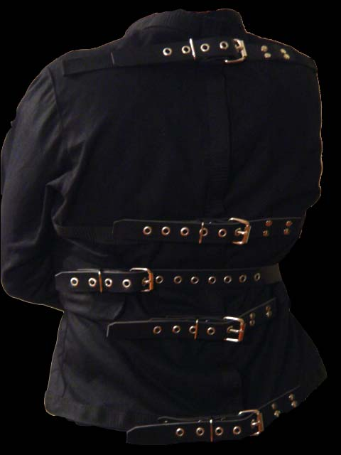 Leather strap straight Jacket