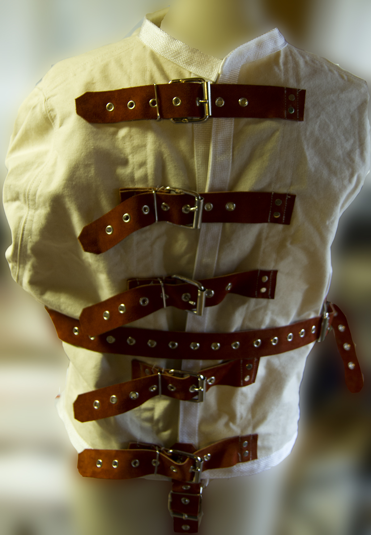 real straight jacket leather