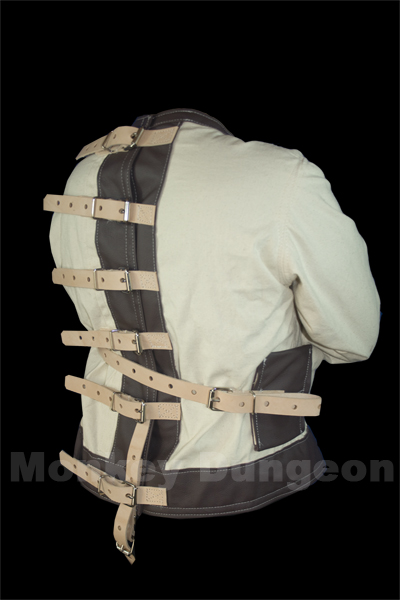 Leather houdini straight jacket